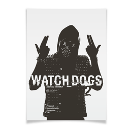 "Плакат A2(42x59) ""Watch Dogs 2"" - watch dogs 2, wrench"
