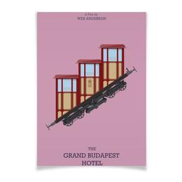 "Плакат A2(42x59) ""Отель «Гранд Будапешт» / The Grand Budapest Hotel"" - отель гранд будапешт, уэс андерсон, grand budapest hotel, grand budapest, гранд будапешт"
