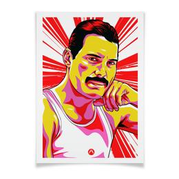 """Плакат A2(42x59) """"Фреди Меркури"""" - поп арт, рисунок, фреди меркури"""