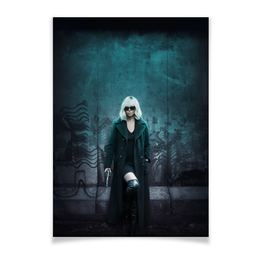 "Плакат A2(42x59) ""Взрывная блондинка"" - девушка, секс, girl, кино, шарлиз терон"