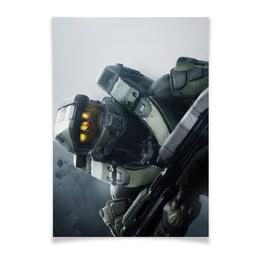 """Плакат A2(42x59) """"HALO / Master Chief"""" - арт, games, игры, halo, master chief"""
