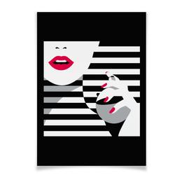 """Плакат A2(42x59) """"Девушка с флаконом духов"""" - поп арт, девушка, духи"""