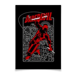 "Плакат A2(42x59) ""Сорвиголова"" - комиксы, супергерои, marvel, daredevil, сорвиголова"