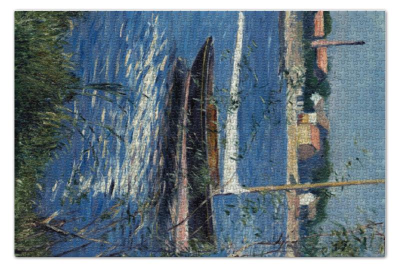 Пазл 73.5 x 48.8 (1000 элементов) Printio Лодки на сене в аржантее пазл 73 5 x 48 8 1000 элементов printio сад художника в аржантее клод моне