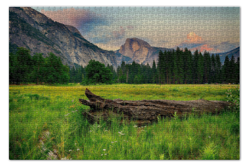 Пазл 73.5 x 48.8 (1000 элементов) Printio Mountains trees discover science mountains