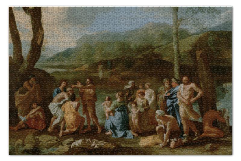 Пазл 73.5 x 48.8 (1000 элементов) Printio Проповедь иоанна крестителя на реке иордан
