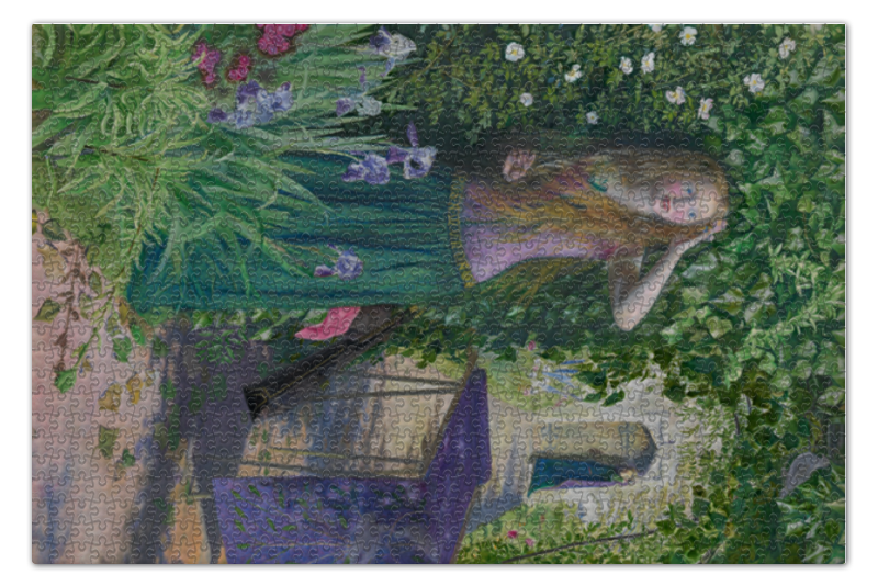 Пазл 73.5 x 48.8 (1000 элементов) Printio Ярмарка розамунда (fair rosamund) wall hanging forest tree printing tapestry
