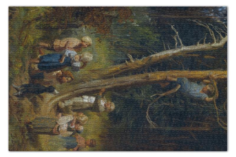Пазл 73.5 x 48.8 (1000 элементов) Printio Дети разоряют гнёзда в лесу (васнецов) цена