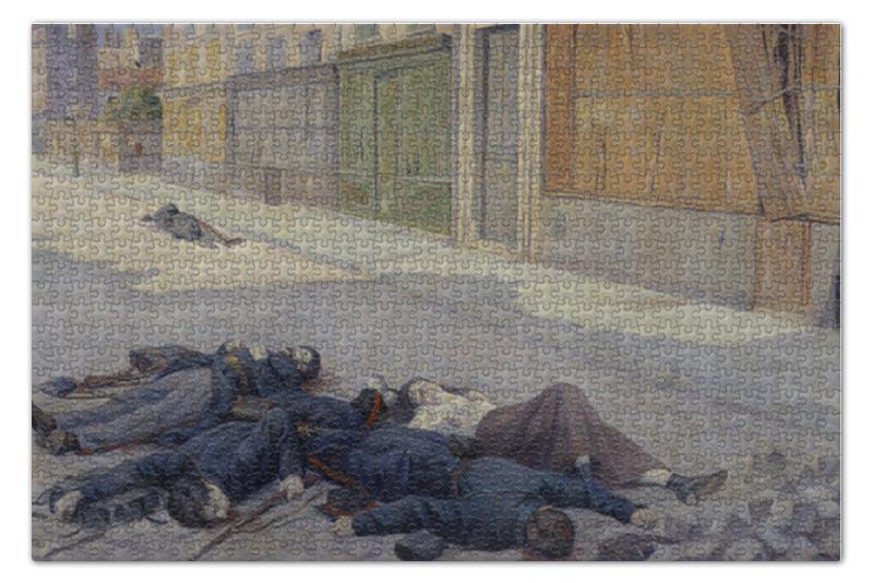 Пазл 73.5 x 48.8 (1000 элементов) Printio Улица в париже в мае 1871 года (люс) пазл 73 5 x 48 8 1000 элементов printio сад земных наслаждений