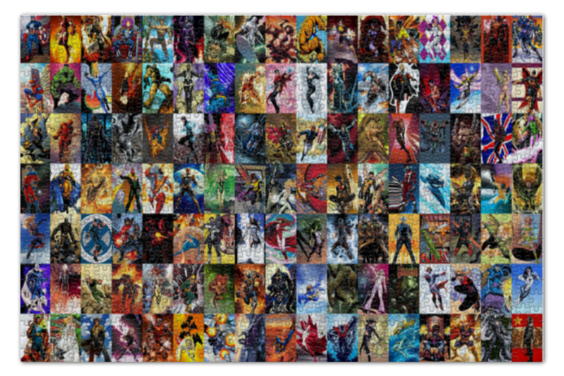 Пазл 73.5 x 48.8 (1000 элементов) Printio Персонажи комиксов пазл 73 5 x 48 8 1000 элементов printio сад земных наслаждений