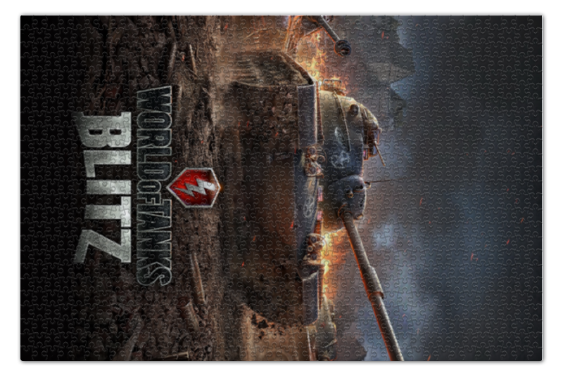 Пазл 73.5 x 48.8 (1000 элементов) Printio World of tanks пазл step puzzle world of tanks 160 элементов 94031