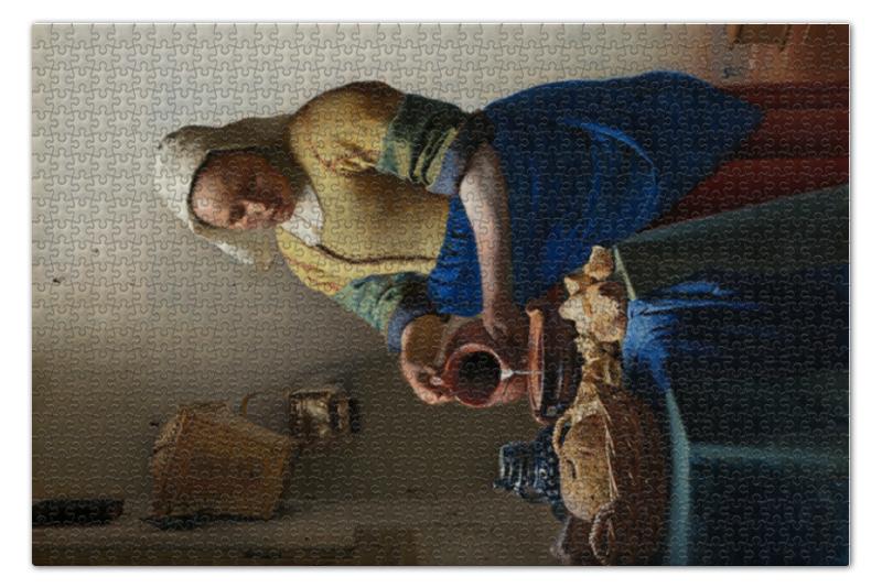 Фото - Пазл 73.5 x 48.8 (1000 элементов) Printio Молочница (вермеер) пазл 73 5 x 48 8 1000 элементов printio мастерская художника картина яна вермеера