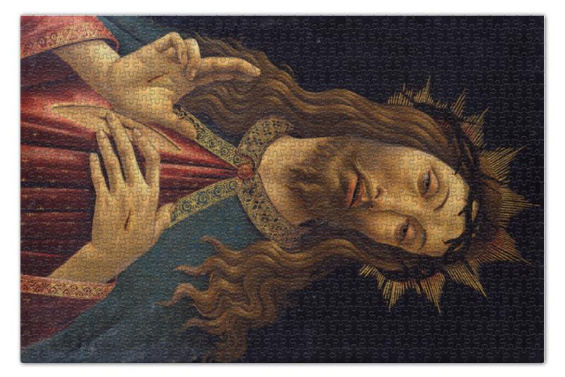 Пазл 73.5 x 48.8 (1000 элементов) Printio Христос в терновом венце (боттичелли) вышивка бисером молящийся христос