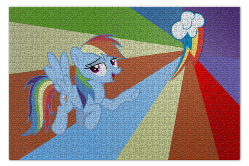 Пазл 73.5 x 48.8 (1000 элементов) Printio Rainbow dash color line пазл 73 5 x 48 8 1000 элементов printio rainbow dash color line