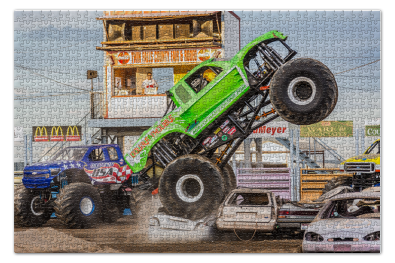 Printio Monster trucks пазл monster high портреты фриков 250 элементов 29682