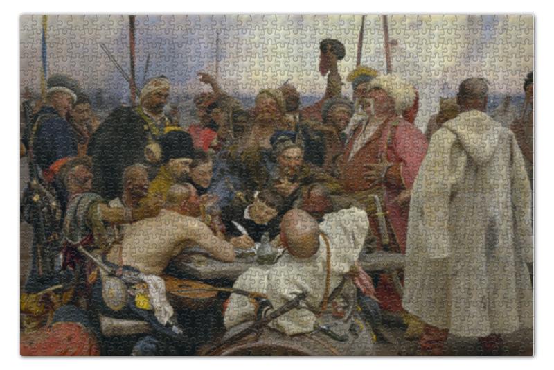 Пазл 73.5 x 48.8 (1000 элементов) Printio Запорожцы (картина репина) картина запорожцы пишут письмо турецкому султану история создания