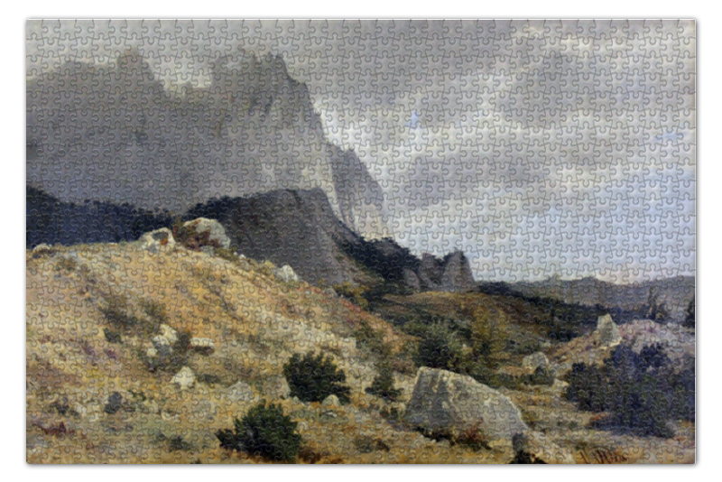 Пазл 73.5 x 48.8 (1000 элементов) Printio Скалистый пейзаж (шишкин) пазл 73 5 x 48 8 1000 элементов printio рожь картина шишкина
