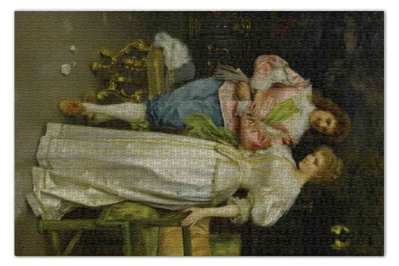 Пазл 73.5 x 48.8 (1000 элементов) Printio Обрученные (федерико андреотти) в и жиглов художник федерико де мадрасо 1815– 1894