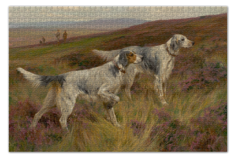 Пазл 735 x 488 1000 элементов Printio 2018 год собаки