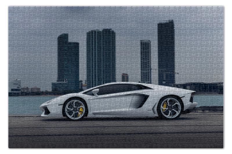 Пазл 73.5 x 48.8 (1000 элементов) Printio Lamborghini aventador стоимость