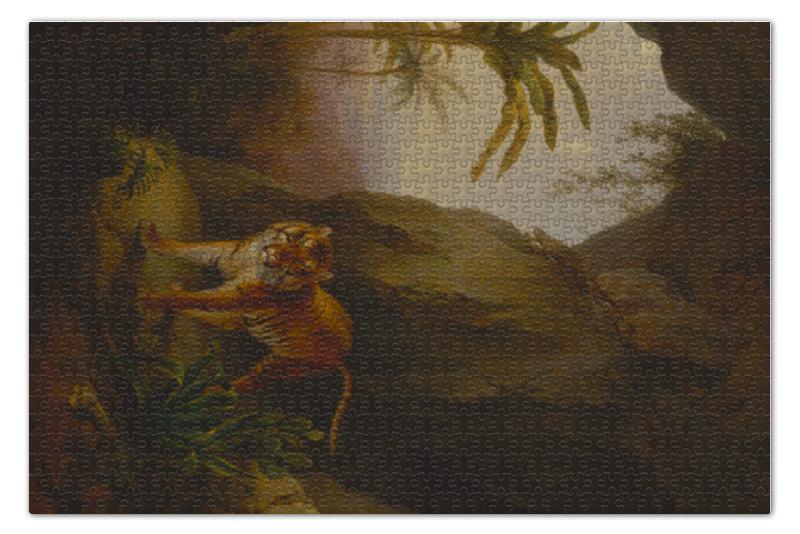 Пазл 73.5 x 48.8 (1000 элементов) Printio Тигр в пещере (tiger in a cave) x tiger 100