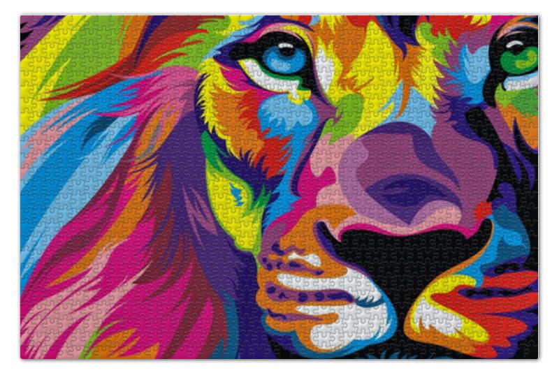 Пазл 73.5 x 48.8 (1000 элементов) Printio Лев пазл 360 арт терапия лев 02347