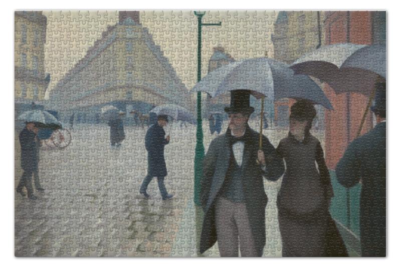 Пазл 73.5 x 48.8 (1000 элементов) Printio Парижская улица в дождливую погоду купить 3комнатную квартиру в волгограде улица гагринская