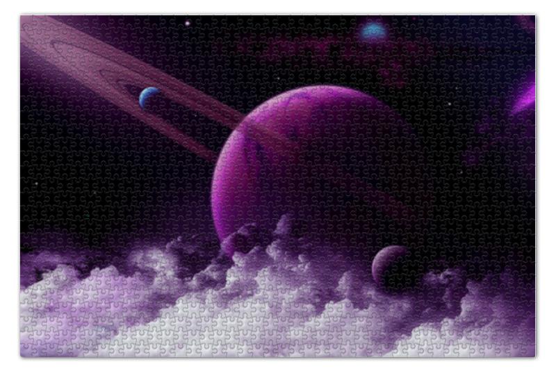 Пазл 73.5 x 48.8 (1000 элементов) Printio Violet space пазл 73 5 x 48 8 1000 элементов printio в парке иван шишкин