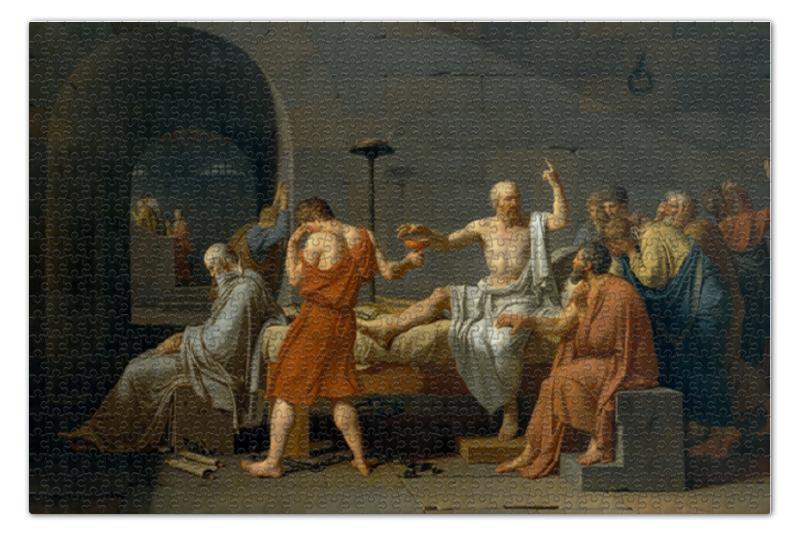 Пазл 73.5 x 48.8 (1000 элементов) Printio Смерть сократа (картина жака-луи давида) пазлы educa пазл нью йорк коллаж 1000 элементов