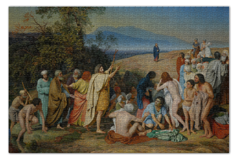 Пазл 73.5 x 48. (1000 элементов) Printio Явление христа народу