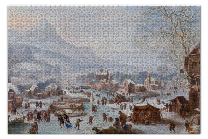 Пазл 73.5 x 48.8 (1000 элементов) Printio Зимний пейзаж с конькобежцами пазл 73 5 x 48 8 1000 элементов printio скалистый пейзаж шишкин