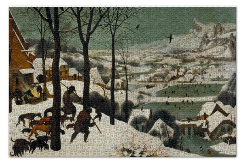 Пазл 73.5 x 48.8 (1000 элементов) Printio Охотники на снегу (питер брейгель старший) тур из минска в питер