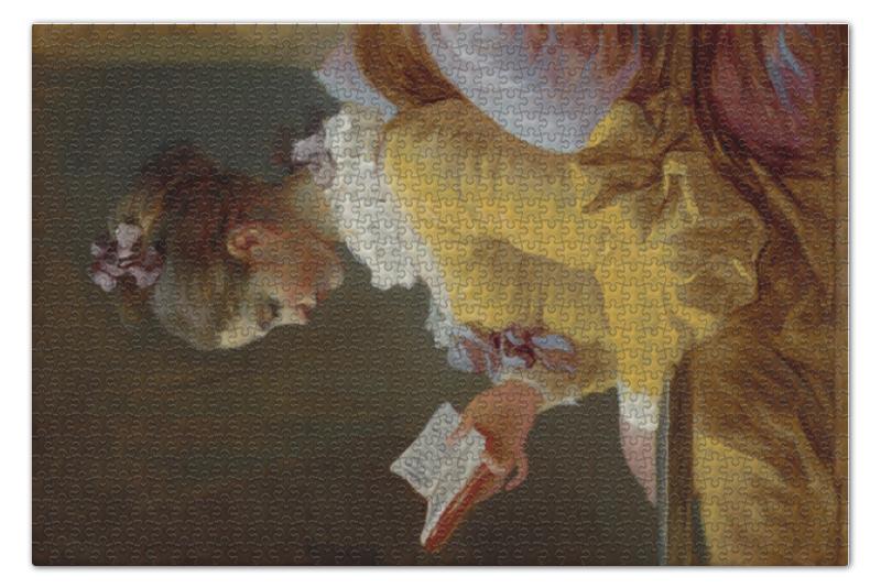 Пазл 73.5 x 48.8 (1000 элементов) Printio Молодая девушка за чтением (фрагонар)