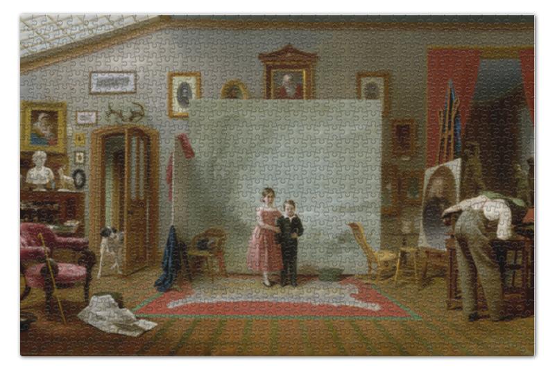 цена Пазл 73.5 x 48.8 (1000 элементов) Printio Интерьер с портретами (томас ле клер)