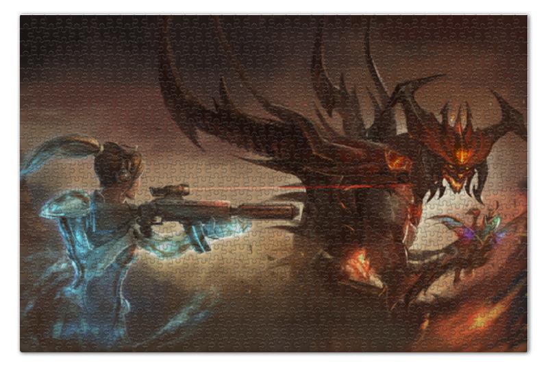 Пазл 73.5 x 48.8 (1000 элементов) Printio Sonya vs diablo