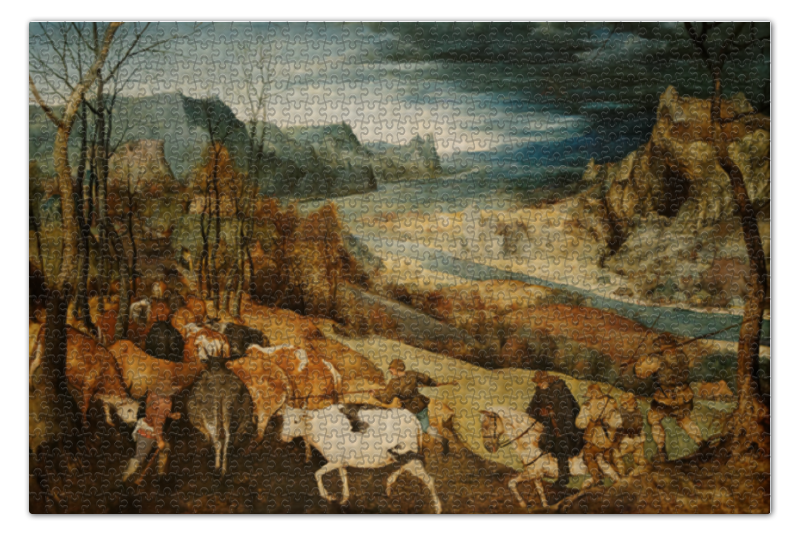 Пазл 73.5 x 48.8 (1000 элементов) Printio Возвращение стада (картина брейгеля) пазл 73 5 x 48 8 1000 элементов printio рожь картина шишкина
