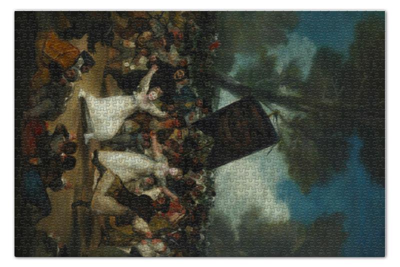 Пазл 73.5 x 48.8 (1000 элементов) Printio Похороны сардинки (картина гойи)