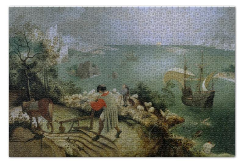 пазл 73 5 x 48 8 1000 элементов printio возвращение стада картина брейгеля Пазл 73.5 x 48.8 (1000 элементов) Printio Падение икара (питер брейгель старший)