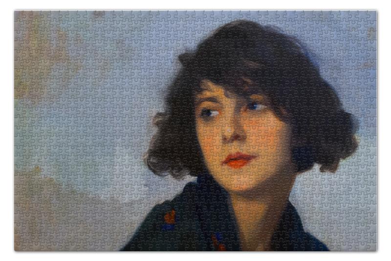Пазл 73.5 x 48.8 (1000 элементов) Printio Женщина в зелёной шали (сиприен эжен буле)