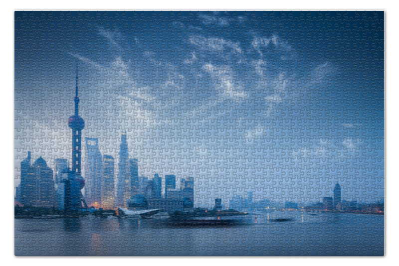 Пазл 73.5 x 48.8 (1000 элементов) Printio Шанхай шанхайбиомед