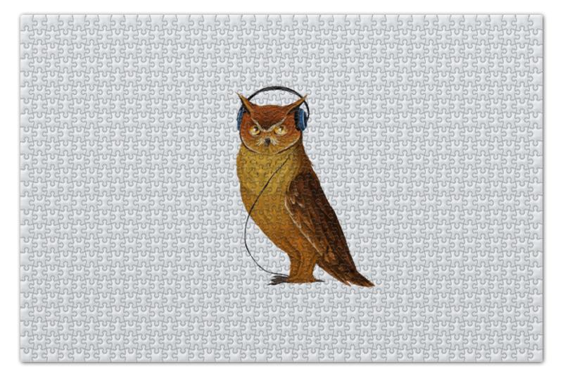Пазл 73.5 x 48.8 (1000 элементов) Printio Сова в наушниках конверт средний с5 printio сова в наушниках