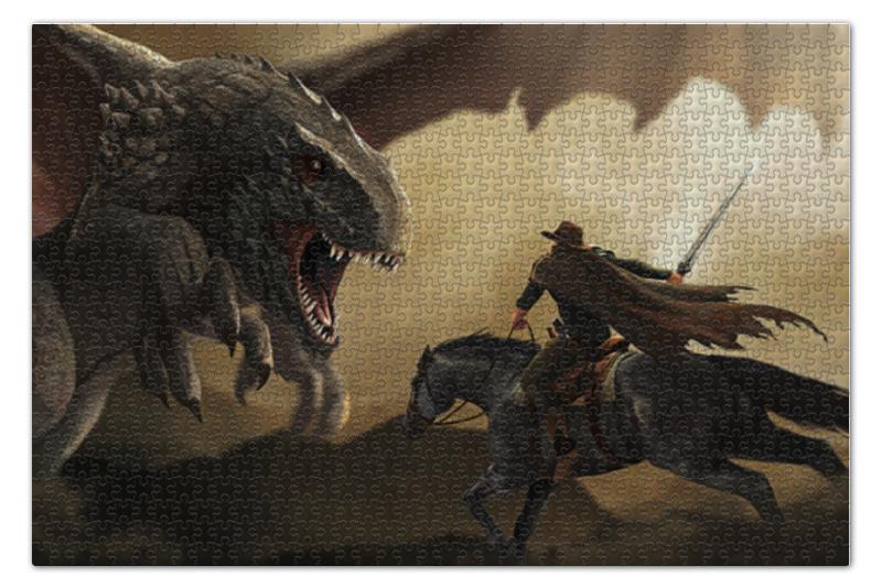 Пазл 73.5 x 48.8 (1000 элементов) Printio Битва с драконом андрей стерхов быть драконом