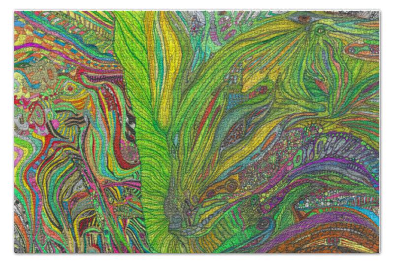 Пазл 73.5 x 48. (1000 элементов) Printio Ом дракон попробуй собери