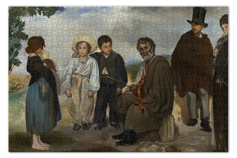 Пазл 73.5 x 48.8 (1000 элементов) Printio Старый музыкант (эдуард мане) пазл 73 5 x 48 8 1000 элементов printio открытая дверь в сад картина сомова