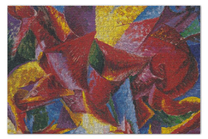 Пазл 73.5 x 48.8 (1000 элементов) Printio Пластичные формы лошади (умберто боччони) лошади 1000 фотографий
