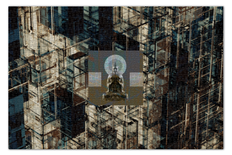 Пазл 73.5 x 48.8 (1000 элементов) Printio Дзен-пазл рекурсия будды жизнь будды