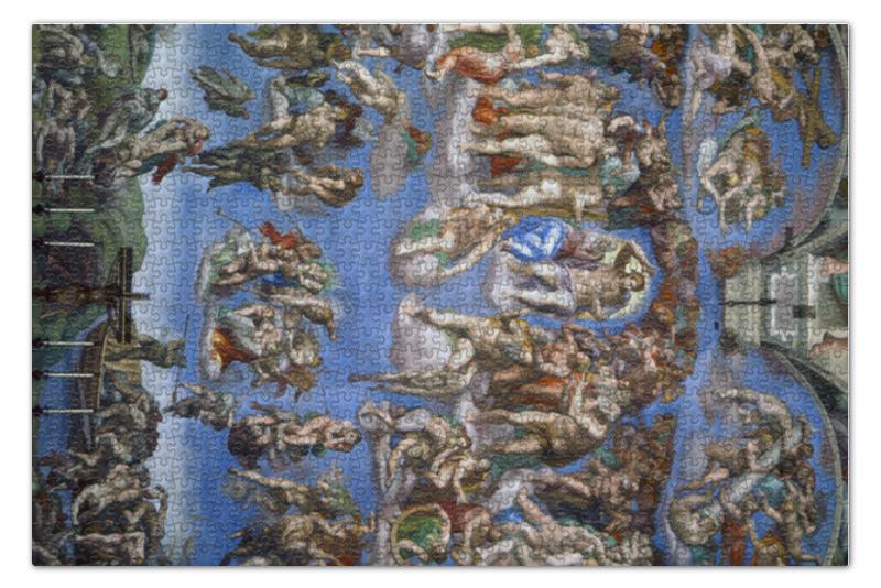 Пазл 73.5 x 48.8 (1000 элементов) Printio Страшный суд (микеланджело) статуэтки parastone статуэтка страшный суд