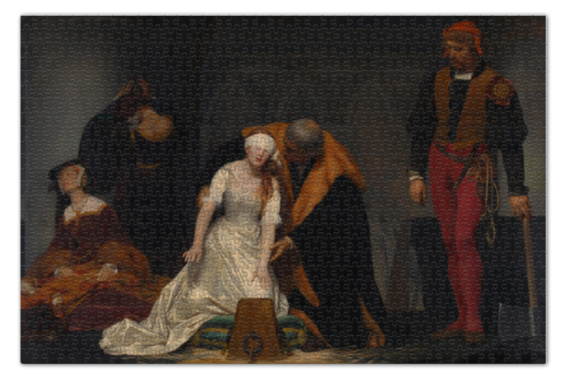 Пазл 73.5 x 48.8 (1000 элементов) Printio Казнь джейн грей (картина делароша) перри энн казнь на вестминстерском мосту