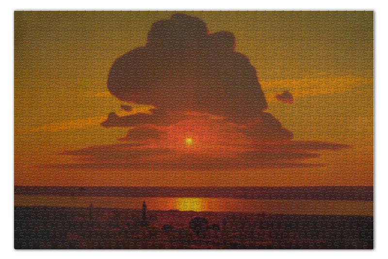 Фото - Пазл 73.5 x 48.8 (1000 элементов) Printio Красный закат (картина архипа куинджи) пазл 73 5 x 48 8 1000 элементов printio мастерская художника картина яна вермеера