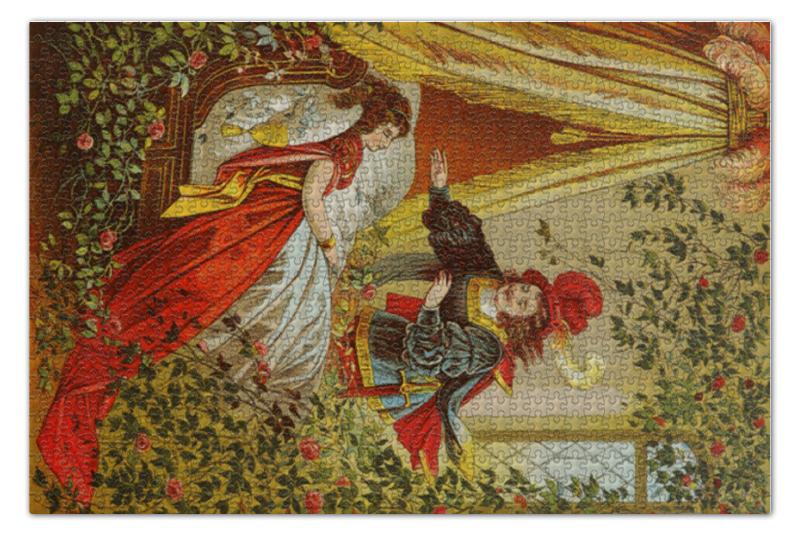 Пазл 73.5 x 48.8 (1000 элементов) Printio Спящая красавица книги издательство акварель спящая красавица